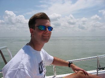 Fred on Boat from Sanibel Marina